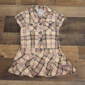 Carter's Plaid Button-front dress